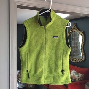 Lime green/neon Patagonia fleece vest!